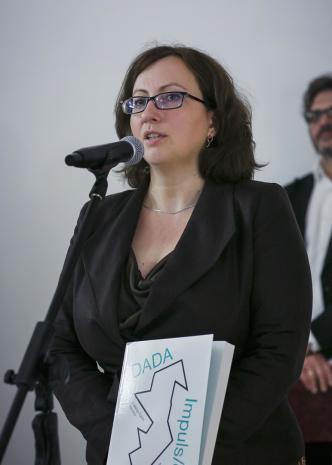 Kuratorka wystawy Paulina Kurc-Maj (Dział Sztuki Nowoczesnej)