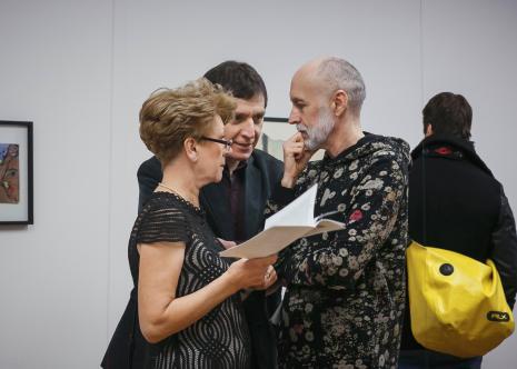 Na pierwszym planie członkowie ms club: inż. Bożena Bobińska i Janusz Janczukowicz (Centrum Edukacji Medycznej), w głębi Ryszard Cichy