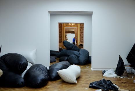 Montaż wystawy w salach ms, fot. Maria Gonera