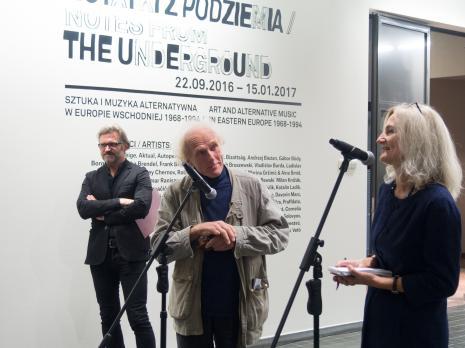 Od lewej dyr. Jarosław Suchan (ms), Vladimir Tarasov i tłumaczka