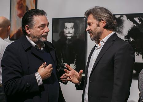 Andrzej Paruzel w rozmowie z dyr. Jarosławem Suchanem (ms)