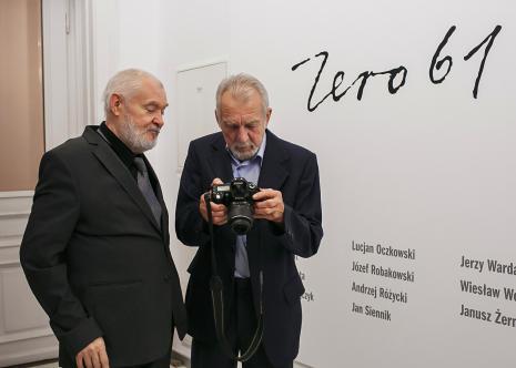 Członkowie grupy Zero-61 Andrzej Różycki i Jerzy Wardak