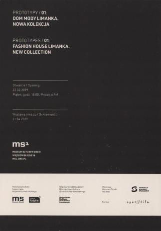 [Zaproszenie] Prototypy/01: Dom Mody Limanka. nowa kolekcja/ Prototypes/01: Fashion House Limanka. New Collection [...]