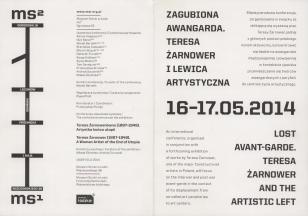 [Program] Zagubiona Awangarda. Teresa Żarnower i lewica artystyczna [...]