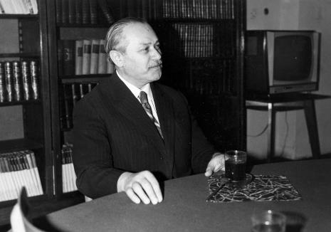 Konferencja prasowa w czytelni biblioteki Działu Dokumentacji Naukowej, Ryszard Brudzyński (wicedyrektor ms)