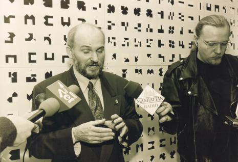 Janusz Kapusta z red. Remigiusz Mielczarek (Radio Manhattan)