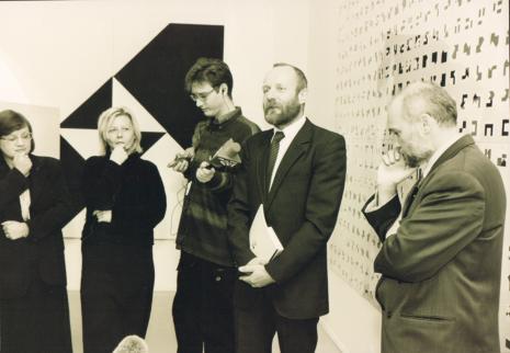 Od lewej Elżbieta Fuchs i Maria Morzuch (ms), x, dyr. Mirosław Borusiewicz (ms), Janusz Kapusta