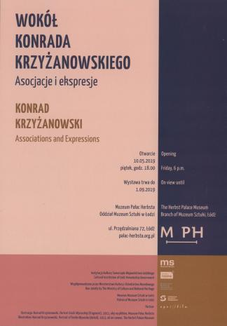 [Zaproszenie] Wokół Konrada Krzyżanowskiego. Asocjacje i ekspresje/ Konrad Krzyżanowski Associations and Expressions [...]
