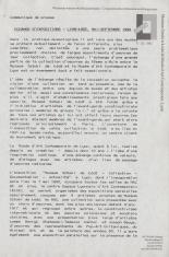 [Komunikat prasowy] Echange d'expositions - Lyon-Łódź, mai-septembre 1992