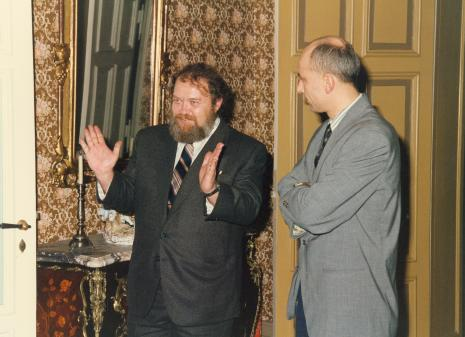 Od lewej Miron Gordon (ambasador Izraela w Polsce), dyr. Jaromir Jedliński (ms)