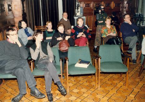 Publiczność: w głębi pierwsza z lewej Urszula Czartoryska (Dział Fotografii i Technik Wizualnych)