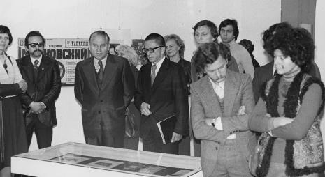 W środku  Bogdan Koperski (I sekretarz KŁ PZPR) i dyr. Ryszard Stanisławski