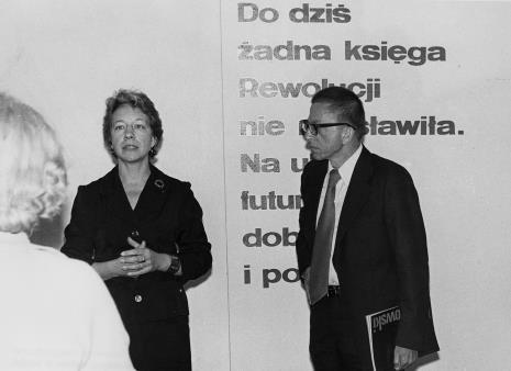 Jelena Michajłowa (Państwowe Muzeum Literatury w Moskwie) i dyr. Ryszard Stanisławski
