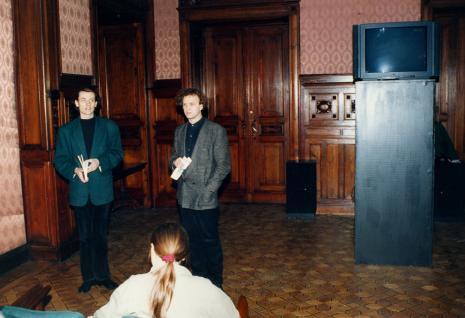 Lech Lechowicz (Dział Fotografii i Technik Wizualnych) i Ryszard Kluszczyński