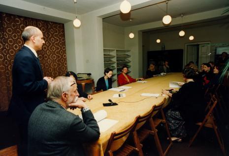 Dyr. Jaromir Jedliński (ms), Andrzej Strumiłło; w turkusowej bluzce red. Marzena Bomanowska (Gazeta Wyborcza, Łódź)