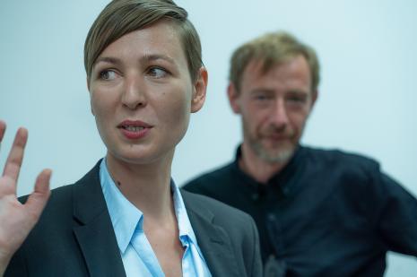 Kuratorzy wystawy Magdalena Kownacka i Gaweł Kownacki