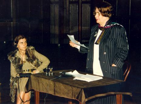 Red. Krystyna Namysłowska (Polskie Radio) i prof. Krystyna Kersten