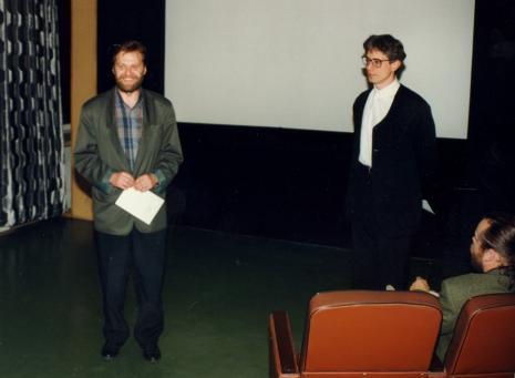 Z prawej autor filmu Grzegorz Tomczak