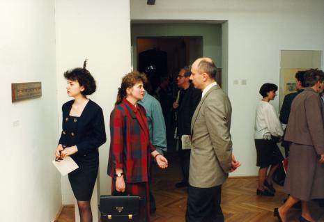 W środku dyr. Jaromir Jedliński (ms), w głębi (w okularach) Zbigniew Gostomski