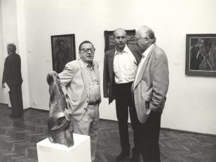 Podróż studyjna dyrektorów muzeów niemieckich po Polsce, wizyta w Muzeum Sztuki