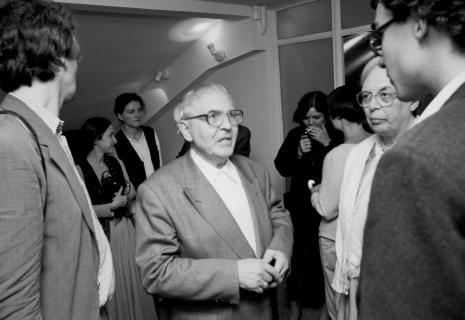 Od lewej x, Małgorzata Wiktorko (Dział Naukowo-Oświatowy), Maria Brewińska (Dział Naukowo-Oświatowy),  Erwin Heerich, Sława Lisiecka-Jaskuła (tłumaczka)x, x, x