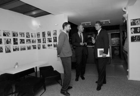 Od lewej Artur Zaguła (Dział Grafiki), dyr. Jaromir Jedliński (ms), dyr. Christoph Brockhaus (Wilhlem Lehmbruck Museum Duisburg)