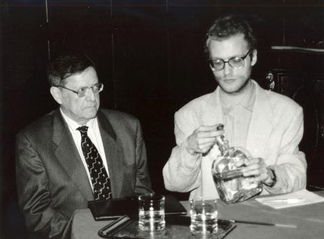 Prof. Adolphe Chapiro z tłumaczem
