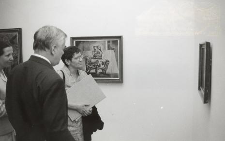 Dr Jacek Ojrzyński oprowadza prof. Ritę Süssmuth po wystawie w ms