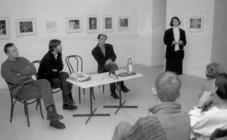 Od lewej Marek Grygiel, x, Lech Lechowicz (Dział Fotografii i Technik Wizualnych), Urszula Czartoryska (Dział Fotografii i Technik Wizualnych)