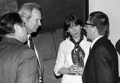 Od lewej Mieczysław Ptaśnik (MKiS), dyr. James Herbert (The British Council), Teresa Gledove (The British Council), dyr. Ryszard Stanisławski (ms)