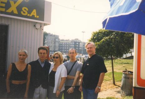 Od lewej Aleksandra Konopka, Krzysztof Musiał (Galeria 86 w Łodzi), kuratorka wystawy Maria Morzuch (Dział Sztuki Nowoczesnej), Aleksander Honory, Józef Robakowski