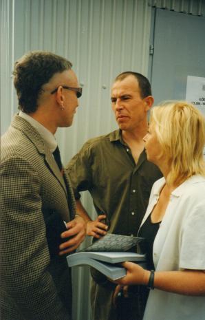 Od lewej Jacek Bieleński, Aleksander Honory, Maria Morzuch (Dział Sztuki Nowoczesnej)