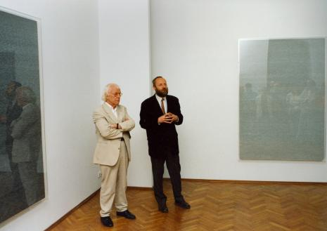 Roman Opałka i dyr. Mirosław Borusiewicz (ms)