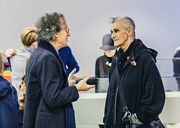 Z lewej Adam Musiał (Galeria 86 w Łodzi)