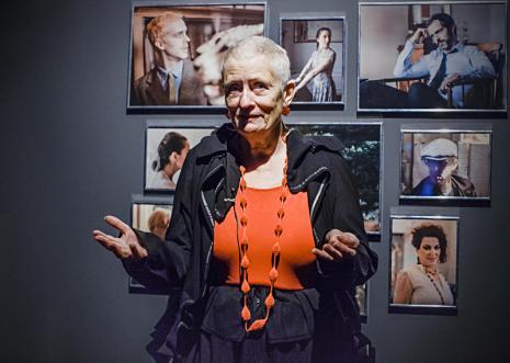 Kuratorka wystawy Mieke Bal (Królewska Akademia Sztuk Pięknych w Amsterdamie)