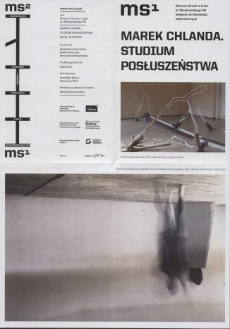 [Folder/Informator] Marek Chlanda. Studium posłuszeństwa.