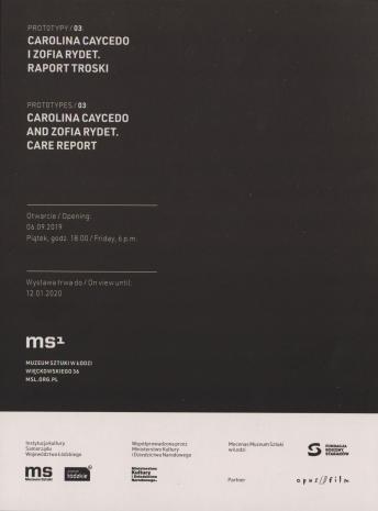 [Zaproszenie] Prototypy / 03: Carolina Caycedo i Zofia Rydet. Raport troski [...]