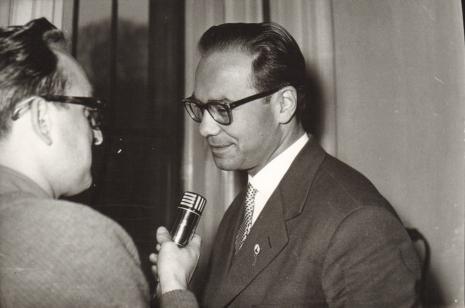 Z prawej Włodzimierz Marquardt (Muzeum Historii Włókiennictwa)