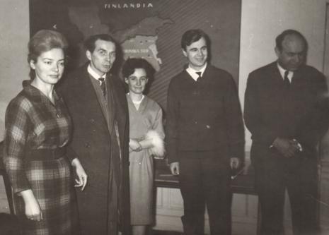 Od lewej Halina Zawilska (Dział Sztuki Polskiej), Julian Kaczmarek (ms), Aleksander Wilkanowski (kierownik Wydziału Kultury i Sztuki WRN), literat Apoloniusz Zawilski