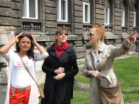 Od lewej Aneta Dalbiak (ms), Małgoarzata Ludwisiak (wicedyrektor ms), Monika Chojnacka
