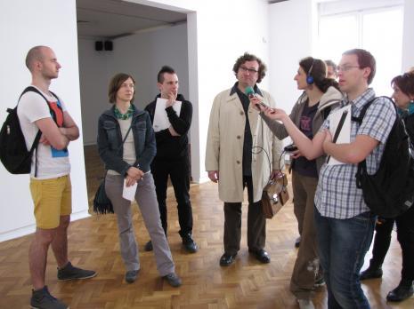 Od lewej x, red. Aleksandra Talaga-Nowacka (Kalejdoskop), red. Jędrzej Słodkowski (Gazeta Wyborcza, Łódź), Cezary Bodzianowski, pierwsza z prawej red. Renata Sas (Express Ilustrowany)