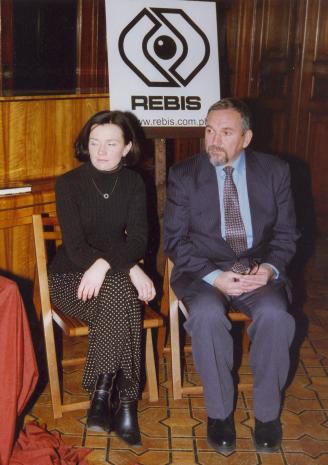 Z prawej autor książki Wojciech Przybyszewski