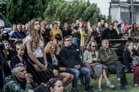 Publiczność w ogrodzie ms na koncercie Samych Suk