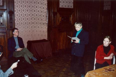 Od lewej Robert C. Morgan, Janina Ładnowska (Dział Sztuki Nowoczesnej), Agnieszka Rejnak-Majewska (Uniwersytet Łódzki)