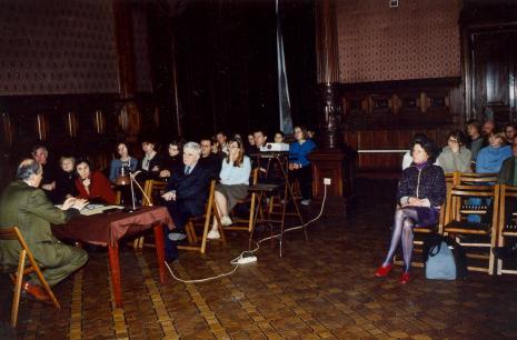 Wykład prof. Andrzeja Nakova w sali odczytowej