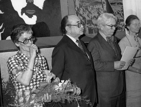 Od lewej p. Almeyda-Medina, Coldomiro Almeyda-Medina, Edmund Osmańczyk z żoną