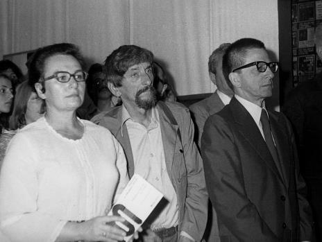 Z prawej Benon Liberski i dyr. Ryszard Stanisławski