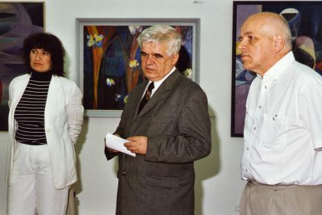 Od lewej krytyk sztuki Anna Maria Leśniewska, dr Jacek Ojrzyński (wicedyrektor ms), kurator wystawy Janusz Zagrodzki