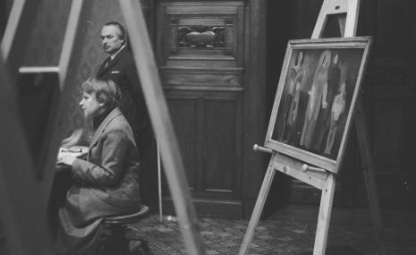 Janina Ładnowska (Dział Sztuki Nowoczesnej), Ryszard Brudzyński (wicedyrektor ms)