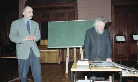 Dyr. Jaromir Jedliński (ms) i Gerard Blum-Kwiatkowski